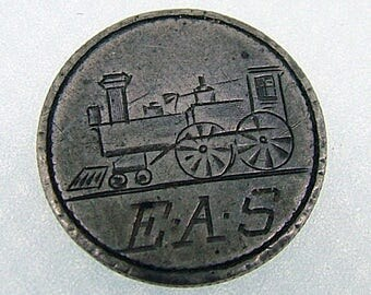 Victorian Steam Engine - Train Engine Love Token - Seated Liberty Dime 1887
