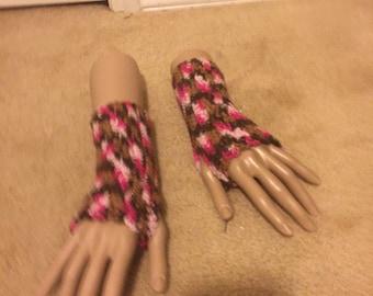 Sweet Mocha Fingerless Gloves