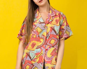 Vintage 90's patterned shirt