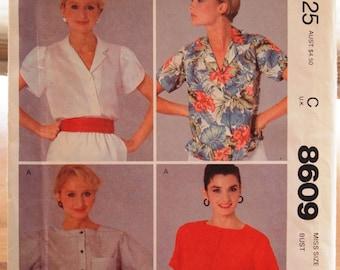 McCalls Misses Top Vintage Sewing Pattern 8609