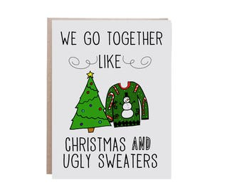 Funny Christmas Card, Ugly Christmas Sweater, Christmas Card, For Husband, For Boyfriend, For Wife, For Girlfriend