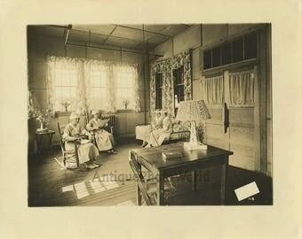 Military nurses hosptial Camp Meade MD antique photo