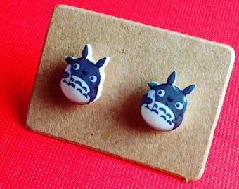 My Neighbor Totoro Earrings / Hayao Miyazaki /Miyazaki Earrings /Kawaii Earrings