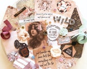 Inspiration Kit / Prima Wild & Free / New Prima / Scrapbook Kit / Embellishments / Scrapbooking / Junk Journal Kit / Shabby Chic Paper