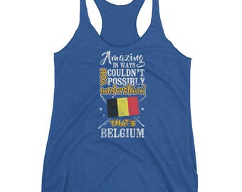 My Country is Belgium Amazing Belgian Flag Tank top