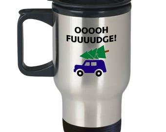 Christmas Story Oh Fudge Funny Gift Travel Mug Coffee Cup Movie Ralphie