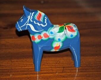 Vintage Blue Dala Horse Sweden