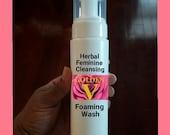 Golden V Herbal Feminine Cleansing Foaming Intimate Wash- Infused w/ Goldenseal, Lavender, ACV, 7 oz. Foam Pump *Shave Soap Vegan
