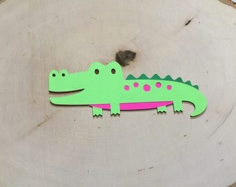 Scrapbook Embellishments, Alligator Die Cut - Set of 4