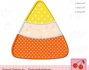 Candy Corn Halloween and Fall Machine Embroidery Applique Design HL0067 - for 4x4,5x7 and 6x10 hoop