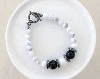 Monochrome Marble Bracelet