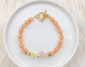 LIMITED EDITION - Floral Beaded in Sweet Peach - Spring Collection - Mikaylove