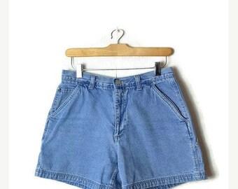 ON SALE Vintage Light Blue Denim Shorts from 90's/W28*