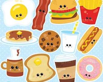 80% OFF SALE Perfect pair Food characters clipart commercial use, Food clipart vector graphics, digital clip art, friends - CL932