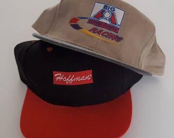 Vintage Lot (2) Snapback Hats VTG