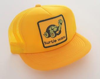 Vintage Turtle Wax Trucker Style Snapback Hat VTG