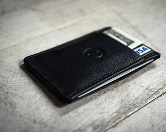 Leather Card Holder Slim Wallet Small Thin Minimalistic Front Pocket Mens Wallet  Personalized Gifts (if needed)