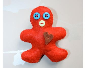 BROOCH RED MAN