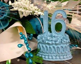 Sweet 16 Sixteen Number Favor Centerpiece Cake Topper Decoration Gift