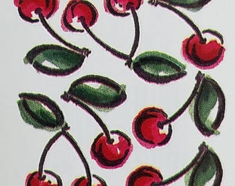 Print Works Studio Collection Cherries Stickers 7 Images Per Sheet Scrapbooking