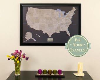 Holiday Sale Off Personalized Executive US Travel Map With - Personalized us travel map