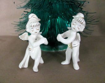 Vintage Christmas Candle Climbers, 1950's Holt Howard Angel Candle Climbers, Candle Rings, 1950's Christmas Decor, Christmas Angel