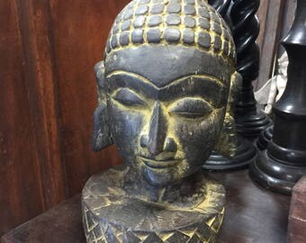 Antique Buddha Head Statue Buddhist Temple Zen Retreat Statue Home Decor