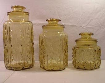 Imperial Galss Atterbury Scroll Jar Canister - Pick A Size