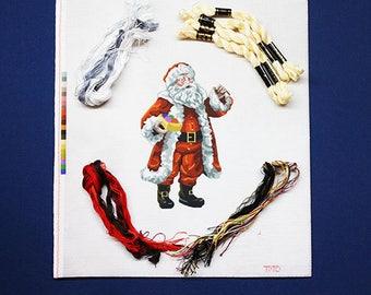 Needlepoint Kits, Santa Needlepoint Kit, Needlepoint Christmas Kits, Santas, Needlework Kits, Santa Needlework Kits, Needlepoint Designs