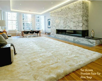 Plush Faux Fur Area Rug