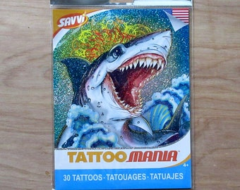Tattoo Mania Tattoos~Set Of 30 Tattoos~Snakes~Monsters~Bugs~Dragons