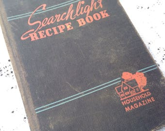 On Sale The Household Searchlight Recipe Book Cookbook 1942