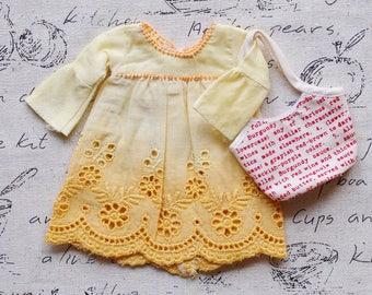 Blythe/Momoko - Bohemien Dress - Short Dress - Yellow02