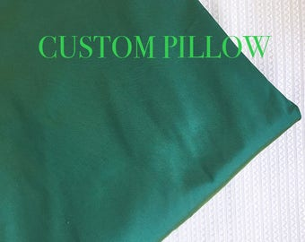 Silk Pillow, Solid pillow, Pillow for couch, Throw pillow, Blue pillow, Pillow cover, Accent pillow-TEAL- 1 piece-choose size- ps18
