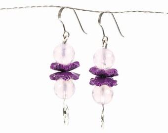 purple amethyst earrings, amethyst earrings, purple gemstone earrings, amethyst earrings, purple earrings silver, amethyst jade,