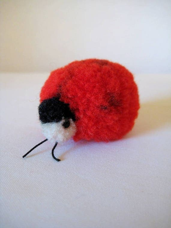 Steiff Vintage Woolen Ladybird Ladybug Woolie - 1953 to 1984 - Will she bring you good luck?