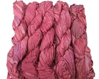 SALE New! Sari Silk Ribbon, 100g , Color: Orchid