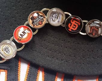 SF Giants Dynasty Bracelet World Series Handmade Link Charm Bracelet Silver Plated Baseball World Series Rings San Francisco Giants