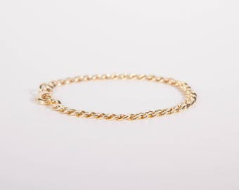 Bracelet  Curb Chain Gold Silver or Rosegold Plated Chunky Curb Bracelet