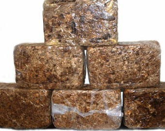 Organic African Black Soap - 4 Ounce Organic Black Soap - Raw Africa Soap Bar - Eczema Soap - Acne Soap  - Face soap - Cleansing Bar Soap