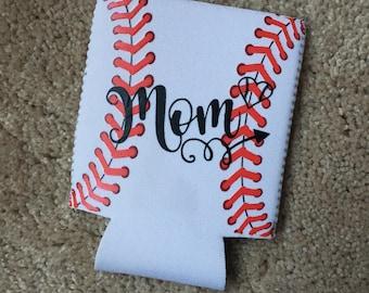 Baseball Can Cooler / Holder - Add #, team name or saying - Baseball Season Necessity