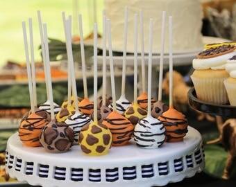 Animal Print/ Tiger/ Giraffe/ Zebra/ Leopard Cake pops