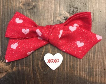 SALE!/ Large school girl bow/ valentine hair bow/ baby hair bow/ baby headband/ nylon headband/ bow with clip