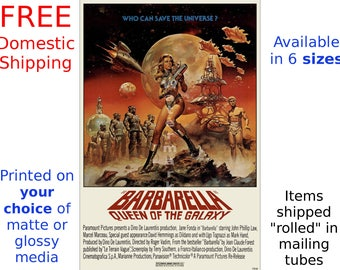 Barbarella - Vintage, Digitally Restored & Retouched Movie Poster (187186217)