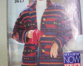 Betterick 3617 Misses Size XS to Medium See & Sew now jacket.  EASY!