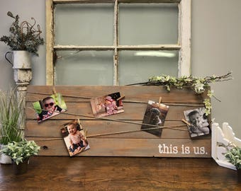 Wood Photo Board