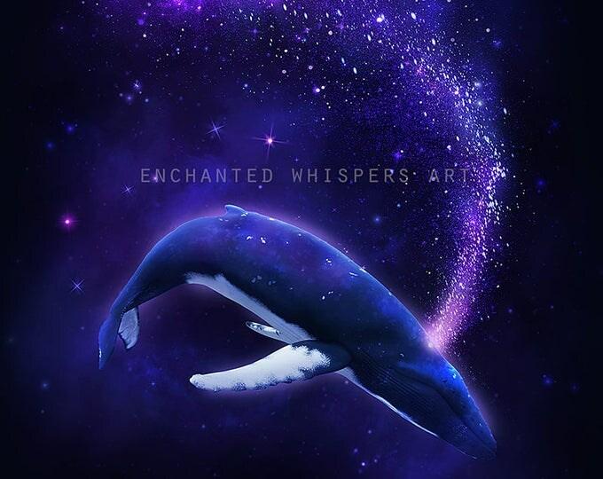 fantasy Humpback whale print