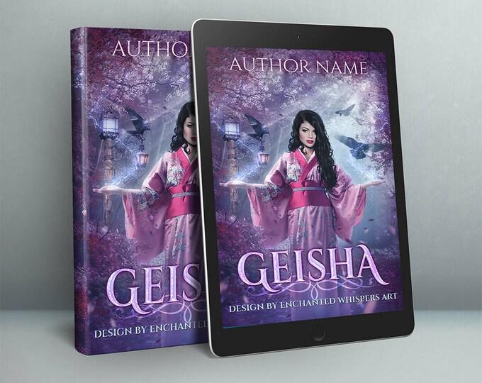 Japanese magical Geisha fantasy premade cover art design