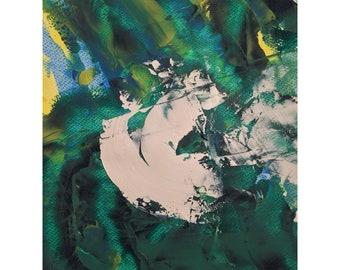 Original abstract painting by Ahmer Waqar