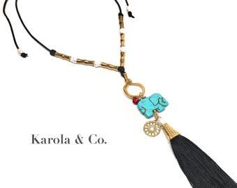 Elephant / Tassel Necklace